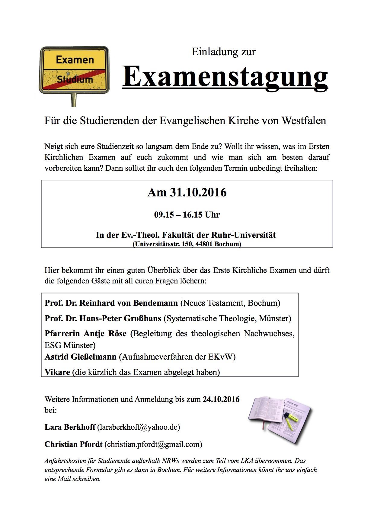 Plakat Examenstagung